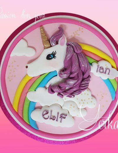 Gâteau 2D Licorne